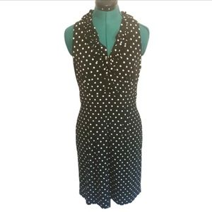 Just...Taylor polka dotted sheath dress